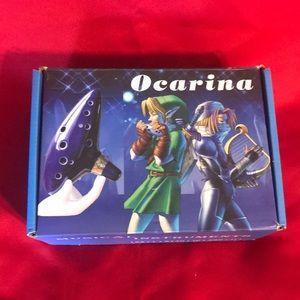 Ocarina 12 Hole Musical Instrument-Light Blue New